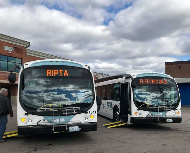 Unveiling of RIPTA's Electric Buses