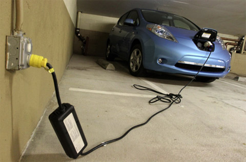 Charging At Home Leaf Garage