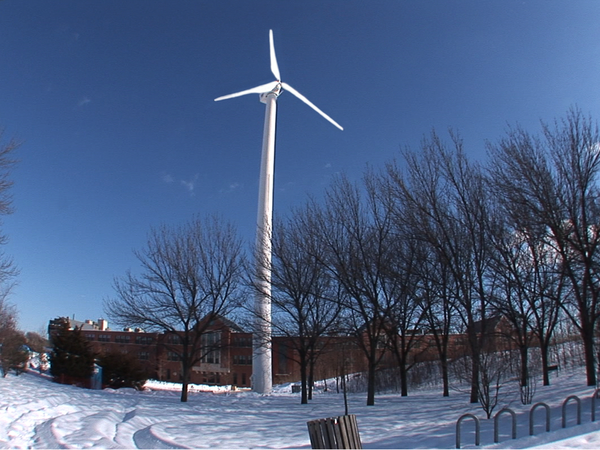 Wind turbine in Medford MA