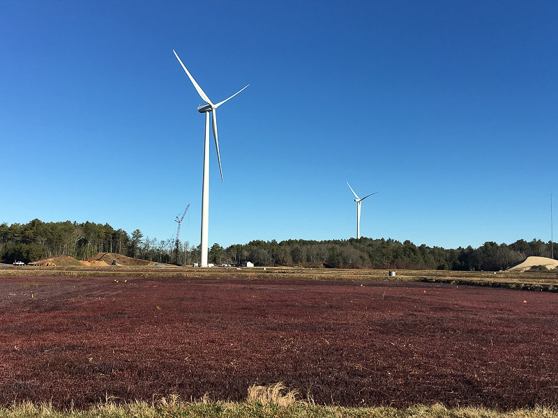 Wind turbines in Plymouth, MA