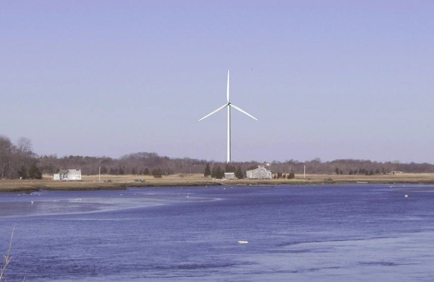 Wind turbine in Scituate MA